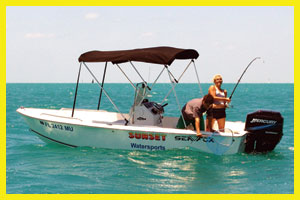 17' Center Console Boat Rental in Key West, Florida